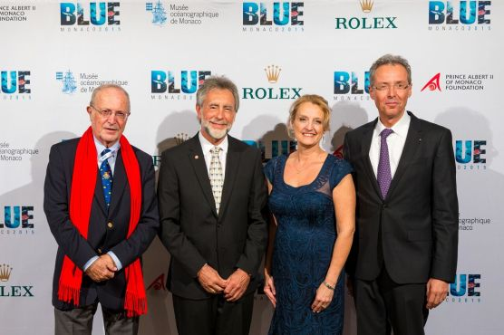 Bernard Fautrier, Charles and Debbie Kinder and Robert Calcagno @BLUE2015Monaco