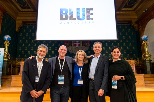 Charles kinder, Paul Nicklen, Debbie Kinder, Robert Calcagno, Cristina Mittermeier @BLUE2015Monaco