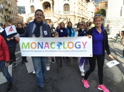Olivier Arnoult and Kate Powers founders of Monacology during the march @CelinaLafuenteDeLavotha