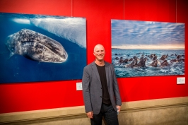 Paul Nicklen with two of his photos @BLUE2015Monaco