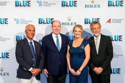 President Tong, HSH Prince Albert II, Debbie and Charles Kinder @BLUE2015Monaco