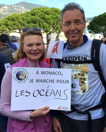 Robert Calcagno, Director of the Oceanographic Museum of Monaco and Martine Martel of the Friends of the Museum @CelinaLafuenteDeLavotha