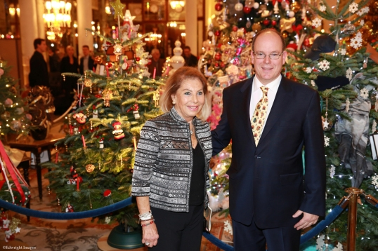 HSH Prince Albert II with Louisette Levy-Soussan Azzoaglio ©EdWImages_AImc2015_0079