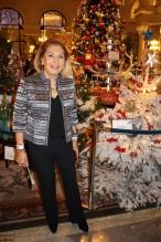 Louisette Levy-Soussan Azzoaglio by the CREM Christmas Tree @CelinaLafuenteDeLavotha