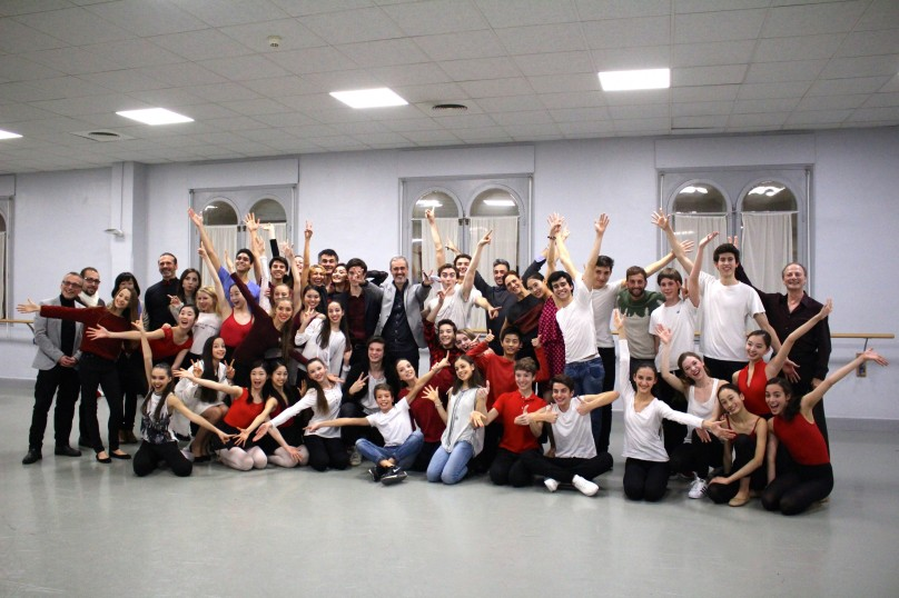 Luca Masala surrounded by students and teachers after the students' show Monaco Got Talent 2015 @CelinaLafuenteDeLavotha