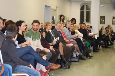 Luca Masala with teachers, parents and supporters at the show @CelinaLafuenteDeLavotha
