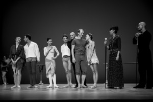 Maillot with his dancers on stage during the Inattendus December 2015 Salle Garnier (4) @Alice Blangero