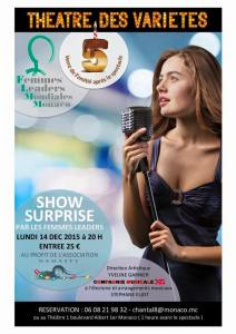 Poster of Show Surprise by Femmes Leaders Mondiales Monaco