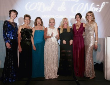 Ekatarina Butorina, Celina Lafuente de Lavotha, Elisa Giusti, Roberta Gilardi-Sestito, Monika Bacardi, Sandrine Garbagnati Knoell and Inna Maier - International Action Committee of the Christmas Ball of MC 2015 @laurentcia