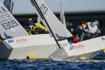 Optimist Team Race sailors @FTerlin