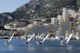 Optimist Team Race sailors in Port Hercules in Monaco@FTerlin