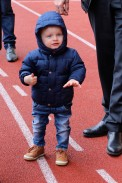 Adorable Prince Hereditary Jacques doing a thumbs up at the Rugby Tournament @CelinaLafuenteDeLavotha