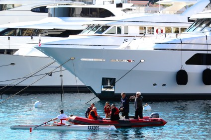 Jean Francois Gourdon in the VIP boat during the Challenge Prince Albert II @CelinaLafuenteDeLavotha