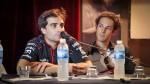 Jerome D'Ambrossio dan Bruno Senna kepada pers konferenciFIAFormulaE