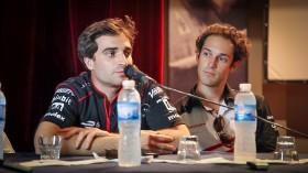 Jerome D'Ambrossio and Bruno Senna at the Press Conference @FIAFormulaE