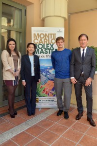 Melanie Antoinette de Massy, Mme Elisabeth de Massy, David Goffin and Tournament Director Zeljko Franulovic @MRM2016