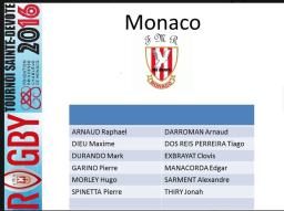 Monaco Rugby team