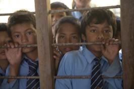 Nepalese school children by Eric Valli