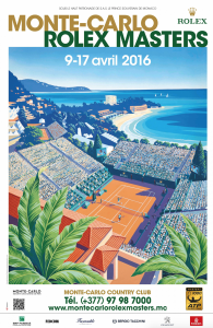 Official flyer of the Monte-Carlo Rolex Masters Apri l9-17, 2016