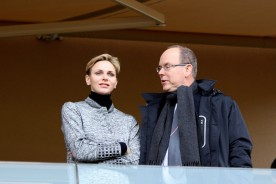 Princess Charlene and Prince Albert II at the Saint Devote Rugby Challenge 2016 @CelinaLafuenteDeLavotha