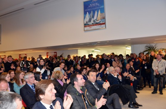 Standing room only at the Prize Ceremony @Societe Nautique Monaco