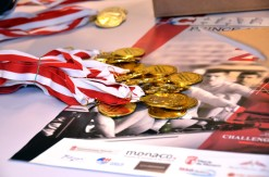 The coveted medals for the Challenge Prince Albert II, 2016 @Societe Nautique Monaco