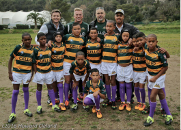 The U12s with Gareth Wittstock, Marius Schoeman, Pieter Muller and Chezlin Wilson @Howard Cleland