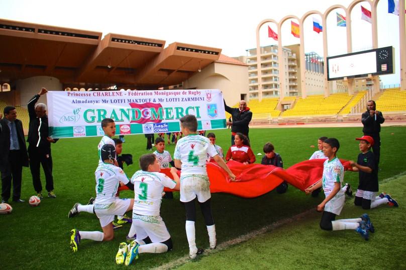 The victorious Tunisian team celebrating @CelinaLafuenteDeLavotha