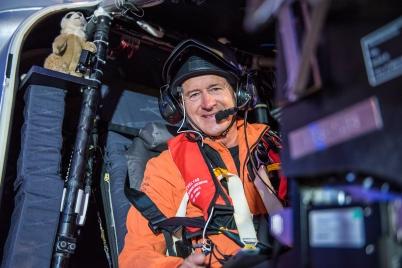Andre Borschberg before take off from Abu Dhabi 2015 @Solar Impulse @ Revillard /Rezo.ch