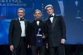 Paul Belmondo wins the special mention award for the movie 'Belmondo par Belmondo' at award ceremony held at Grimaldi Forum in Monaco, March 6th, 2016. @ Marco Piovanotto