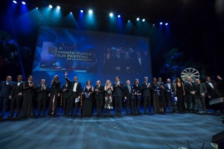 All the winners on the stage at the end of the award ceremony , held at Grimaldi Forum in Monaco, March 6th, 2016. @ Marco Piovanotto