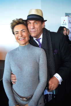 Celina with American actor Robert John Davi @Christian Pinson