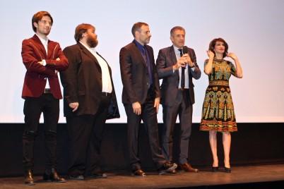 Francesco Sole, TEo Teocoli, Fausto Brizzi, Ezio Greggio and Lorenza Indovina @CelinaLafuenteDeLavotha