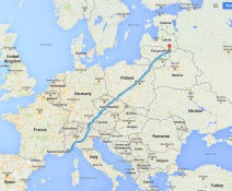 Monte-Carlo, Monaco to Daugavpils in Latvia