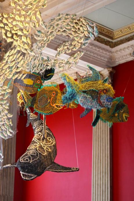 Ocean Life - sculptures called Ghosts Nets made of fishing net @CelinaLafuentedeLavotha
