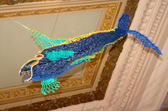 Sculpture of fishing net @CelinaLafuentedeLavotha