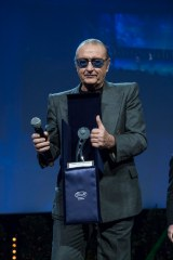Tony Renis wins the career award of the 13th Monte Carlo Festival of the comedy. The award ceremony has been held at the Grimaldi Forum in Monaco, March 6th, 2016. Photo by Marco Piovanotto