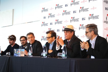 Vincent Le Leurch, Markus Duffner, Ezio Greggio, Gabriele Muccino, Robert John Davi and Barmak Akram at PC of the MCFF @CelinaLafuenteDeLavotha