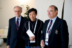 Alain Manigley with winner Zhang Lijian and Philippe Railland MCRM 2016 photos Contest @Olivier Anrigo