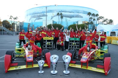 Daniel Abt (3) and Lucas Di Grassi (1) with their team @P1 Media Relations Abt Schaeffler Audi Sport