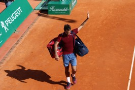 Federer says good bye to his fans after being defeated by Tsonga in the Quarterfinals @CelinaLafuenteDeLavotha