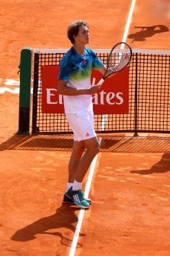 German Alexander Zverev advanced to second round in Monte-Carlo @CelinaLafuenteDeLavotha