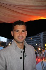Grigor Dimitrov at Zelo's launch party MCRM 2016 @CelinaLafuenteDeLavotha