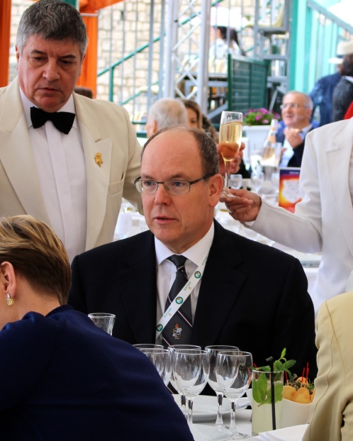 HSH Prince Albert at the Restaurant in the Terrace of the Monte-Carlo Country Club @CelinaLafuenteDeLavotha