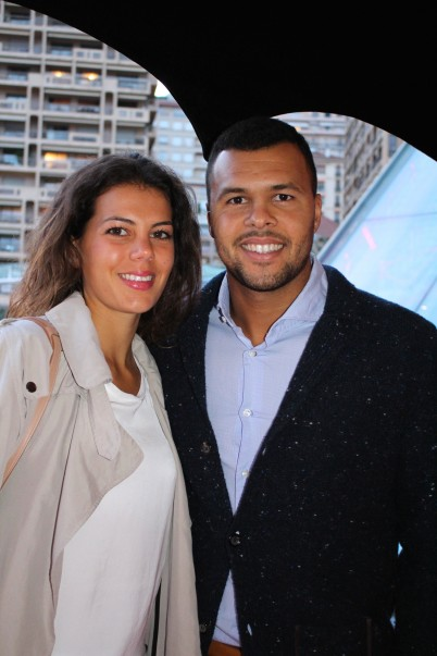 Jo-Wilfried Tsonga and girlfriend at Zelo's launch party MCRM 2016 @CelinaLafuenteDeLavotha