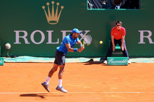 Jo Wilfried Tsonga during Quarterfinals Friday, Apirl 15, 2016 @CelinaLafuenteDeLavotha