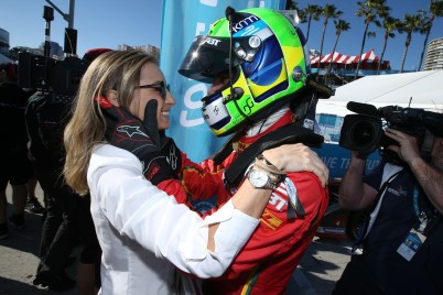 Lucas Di Grassi with wife Bianca at Long Beach e-Prix @P1 Media Relations ABT Schaeffler Audi Sport