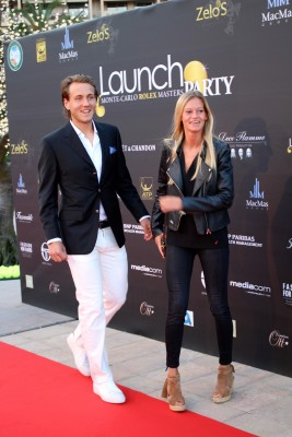 Lucas Pouille and his girlfriend at Zelo's launch party @CelinaLafuenteDeLavotha