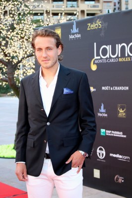 Lucas Pouille smartly dressed in Faconnable @CelinaLafuenteDeLavotha