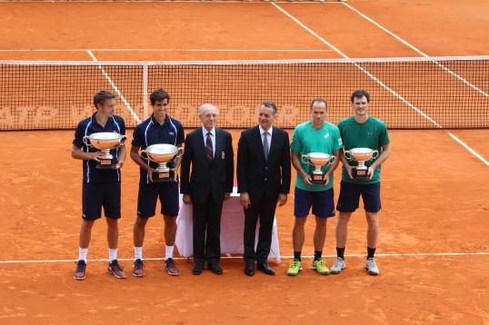 Mahut and Herbert, Alain Manigley, Monaco Mayor Georges Marsan, Soares and J. Murray @CelinaLafuenteDeLavotha